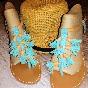 Ann Taylor Tassel Sandals